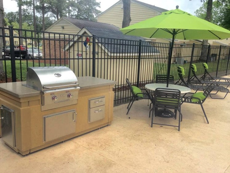 grilling area at apartments